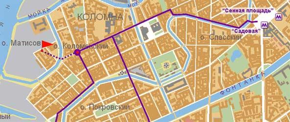 Гостиница Адмиралтейская Санкт-Петербург. Местоположение