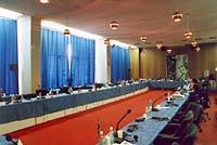 Гостиница Санкт-Петербург. Стеклянный конференц-зал